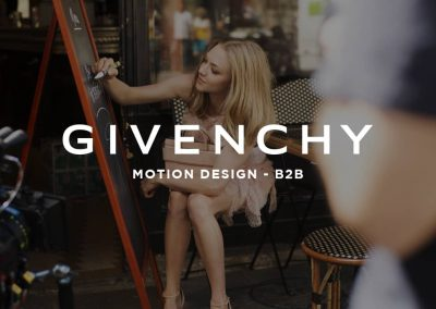 GIVENCHY – MOTION DESIGN